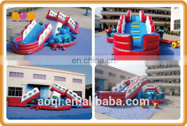 AOQI Movable Bridge fun city / inflatable fun city for commercial use