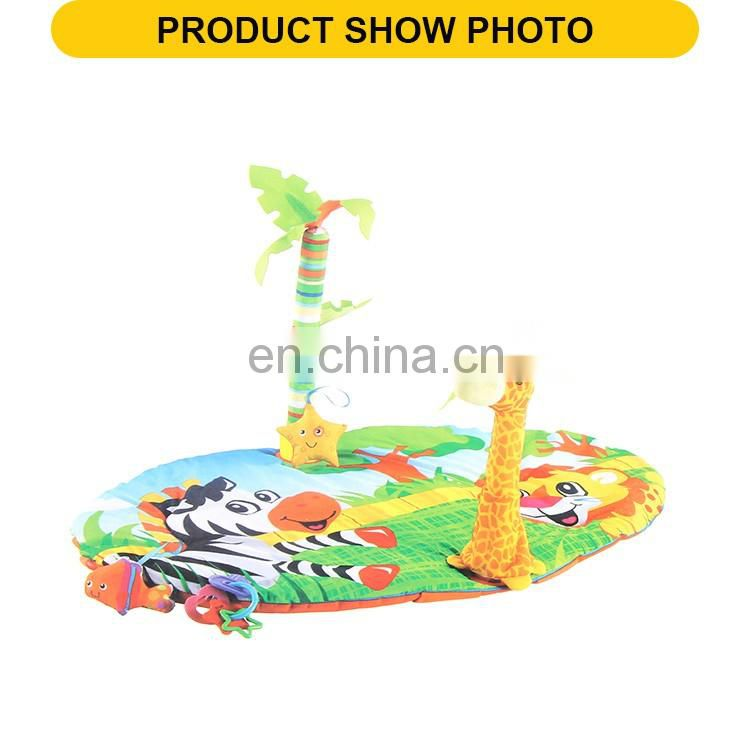 Hot selling cartoon play foldable toys the baby gym mat