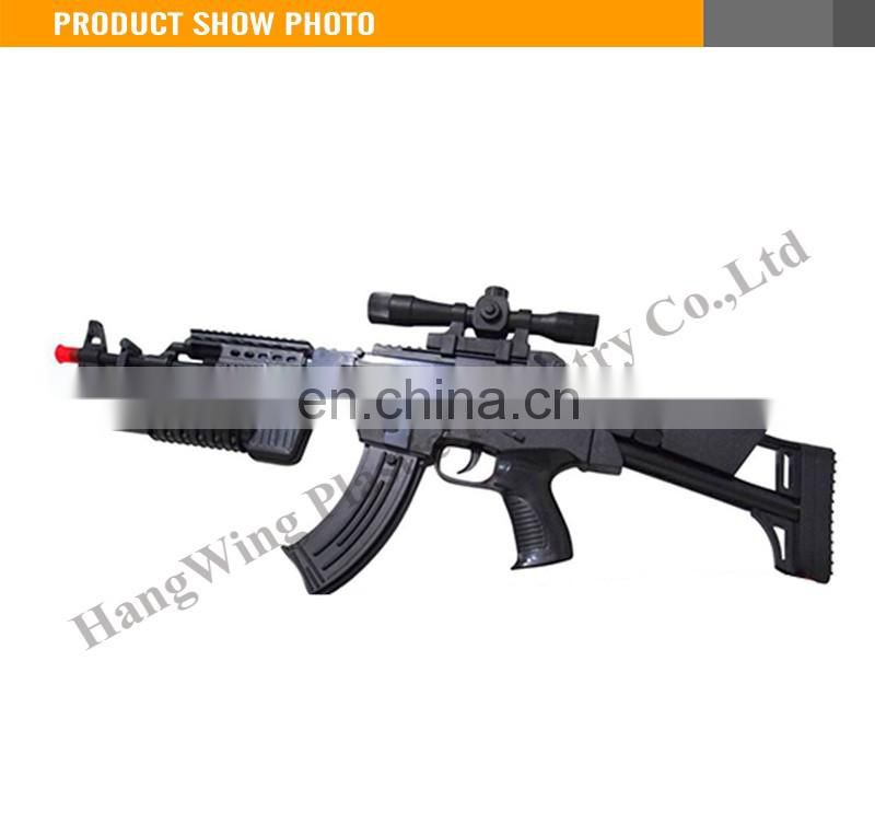 Most Popular Plastic B/O Gun flashing light gun toy with sound ak47 toy gun