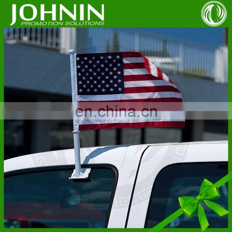 high quality custom polyester cheap all kinds of plastic car flag pole