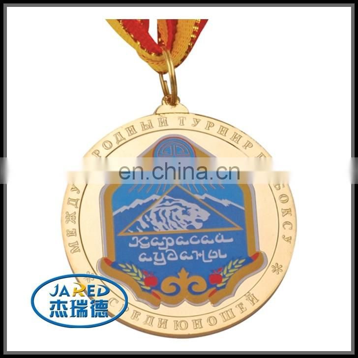 Metal Crafts Souvenir Varnishing Medal with Ribbon Attached