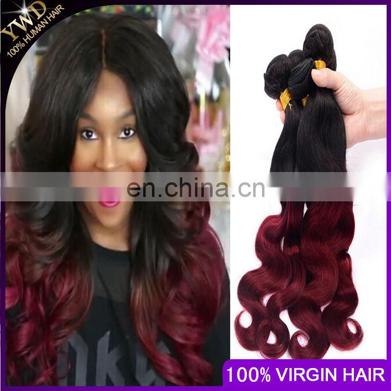 Ombre Hair Extensions Cheap 8A Brazilian Virgin Hair Body Wave1B/BUG Brazilian Human Hair Weave Bundles 10-26inch Paypal Accept