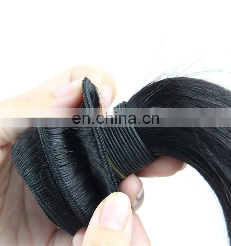 Silk straight peruvian human hair bundles