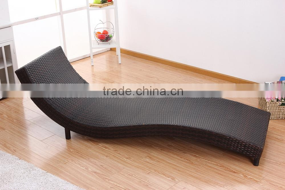 Modern cheap UV resistant lounge chair outdoor rattan garden patio furniture PRC14834