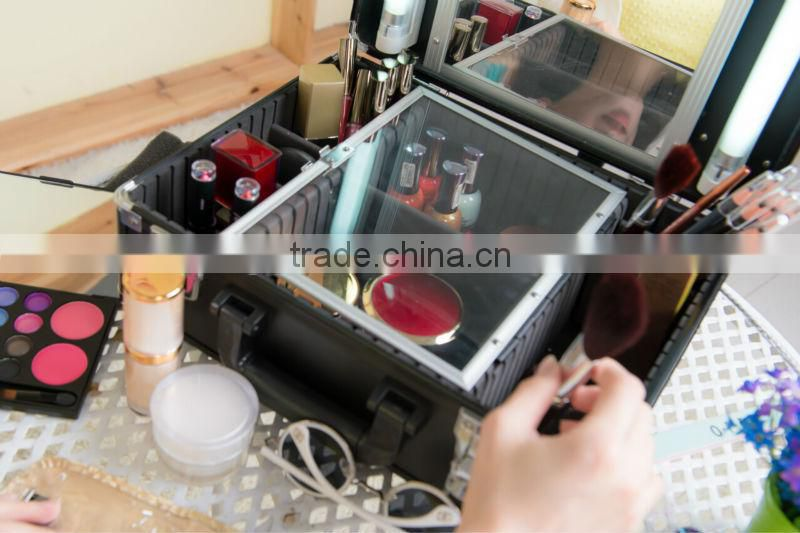 travel kit, make up box with lighting tube (F9500K) black board