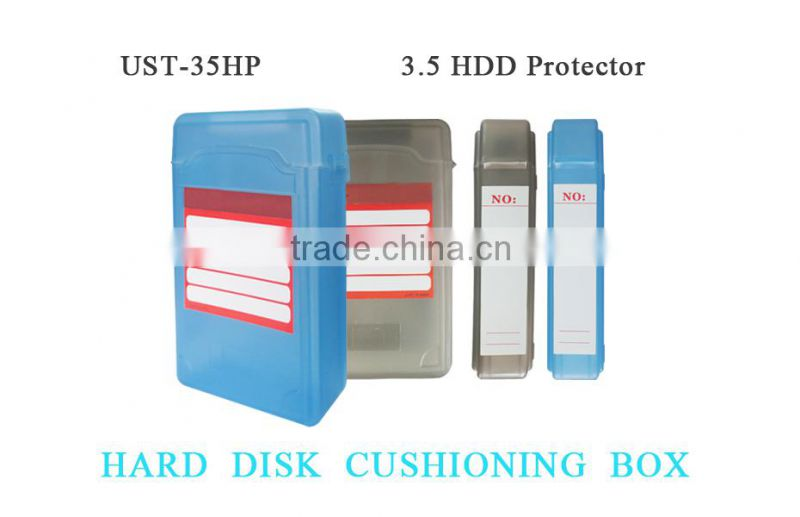 Free shipping!3.5 inch IDE SATA Hard Disk Drive HDD Enclosure safeguard Storage Case Box Simple Anti-static blue or black