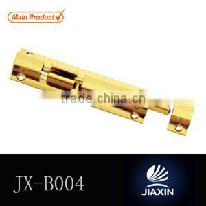 Solid brass sliding door hook flush bolt lock brass barrel bolt tower bolt door and window latch