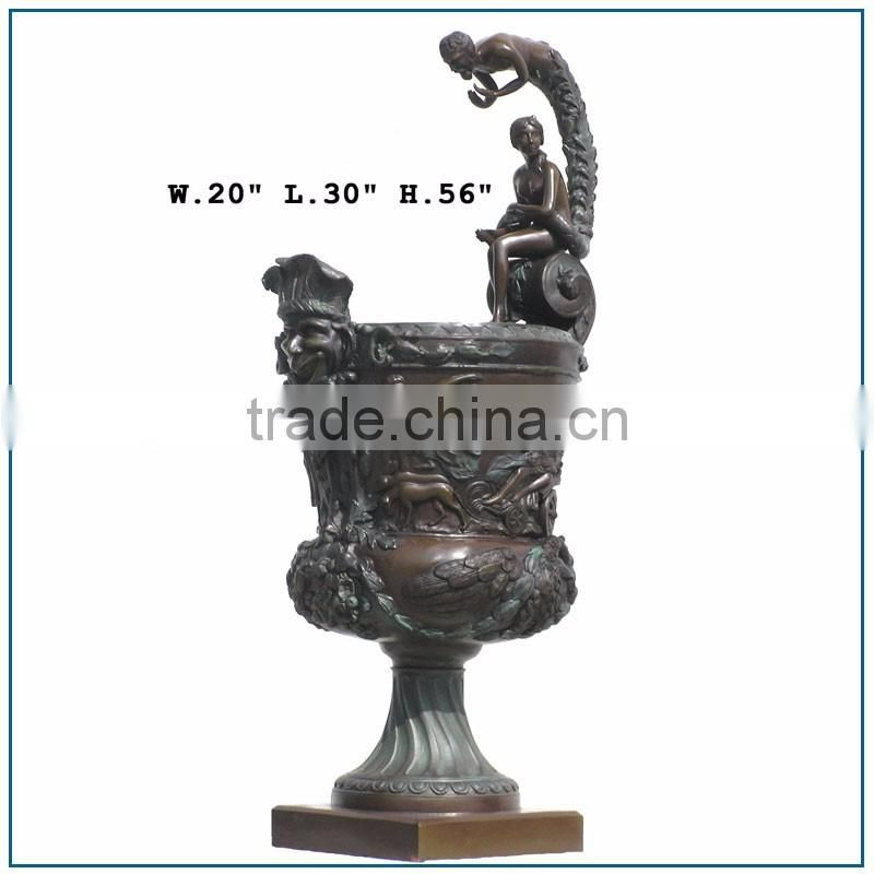 High Quality Women and Men Antique Brass Flower Vase