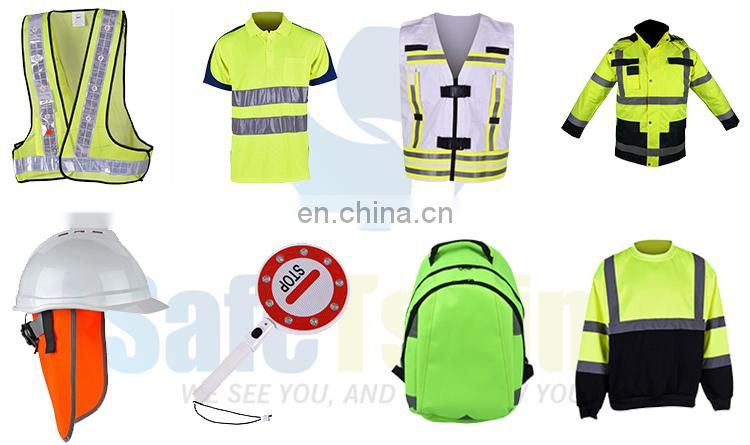Unique design hot sale outdoor durable yellow reflective running vest