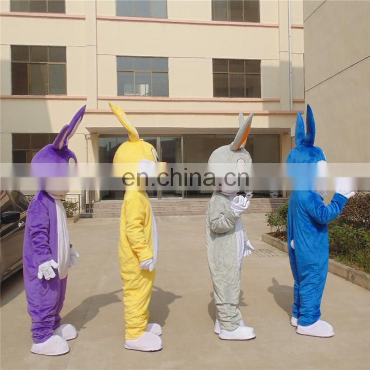 2017 new popular funny easter rabbit mascot costumes for adults
