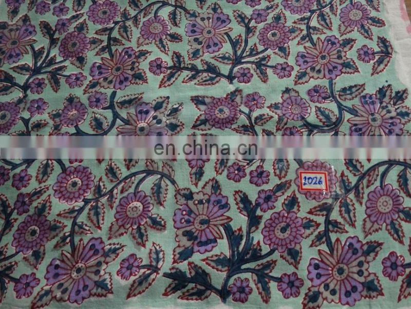Vishal Handicraft_Indigo natural Dye printed cotton Fabric_Indian hand block printed cotton fabric Wholesale_BPF-15