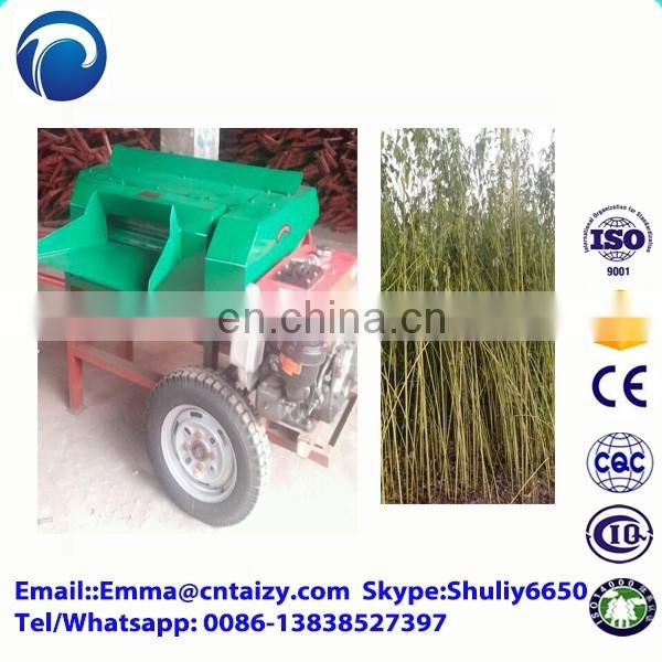 Sisal jute hemp flax extractor Automatic Kenaf Decorticator Machine stripping machine