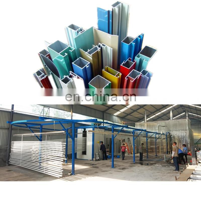 Automatic powder coating booth for aluminium profiles 72
