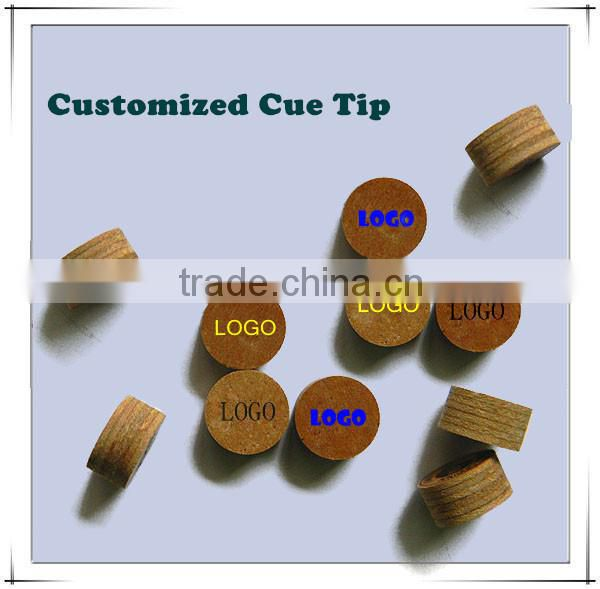 Multi Layers Pig Skin 11-14mm Snooker Cue Tips