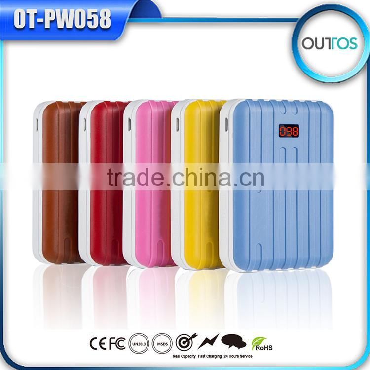 travel suitcase universal usb port portable power bank with display screen