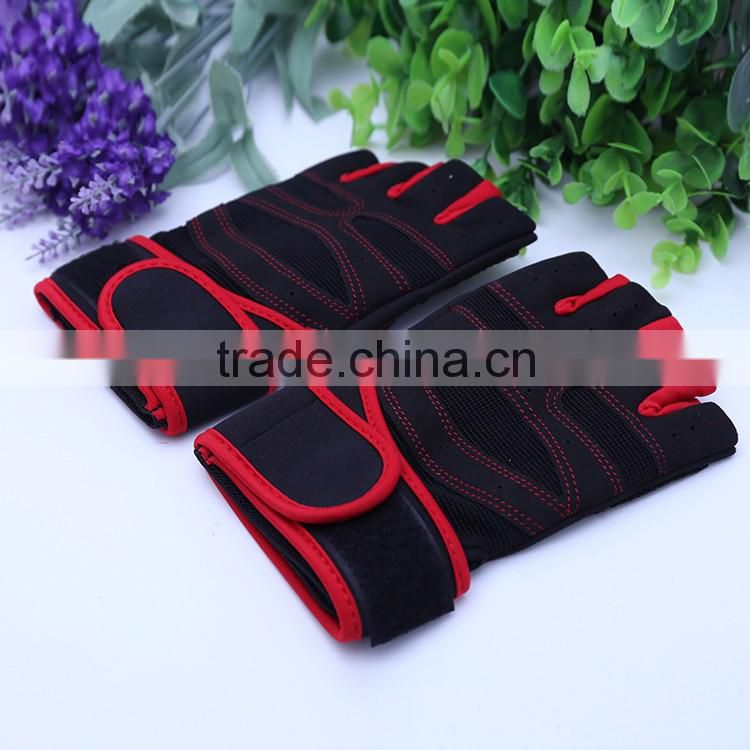 2016 New Products Microfiber Cloth Wrist Wraps Weightlifting Gloves, Gym Gloves Customize Color