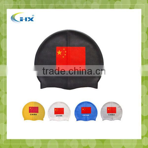G-2015 factory Customized Any nation flag is available High quality original swimming caps