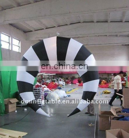 2011 party decoration inflatable black and white lamp with led light
