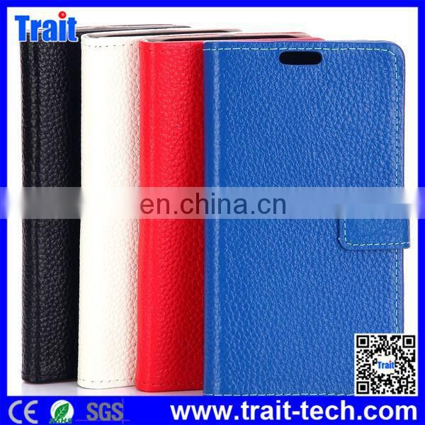 Cheap Wallet Style Magnetic Flip Stand PC Genuine Leather Case for HTC One M9 with Card Slots