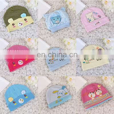Hot selling good quality baby caps cotton cartoon newborn baby hats