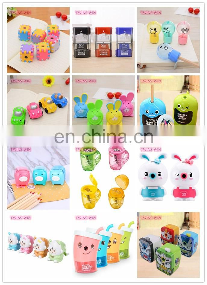 Novelty promotion office supplies and advertisement stationery wholesale cartoon manual pencil sharpeners free samples