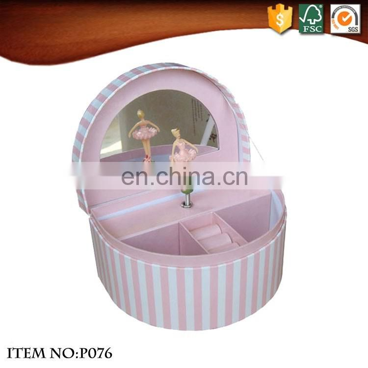 China factory semicircle paper jewellery musical Boxes for wholesale