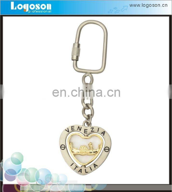 Upmarket Souvenir Custom Logo Keychain Metal Shaped Key Ring