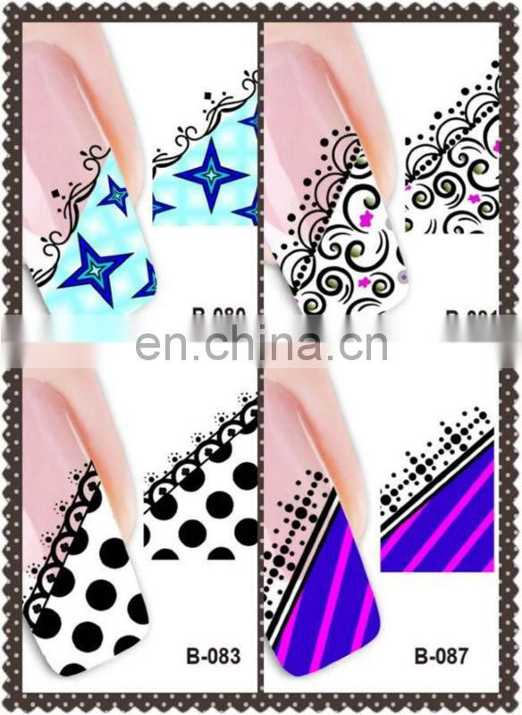 Latest wholesale nail art paper printing nail sticker