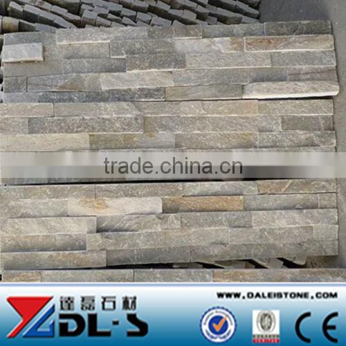 Yellow Slate Mushroom Stone Wall Cladding, natural decorative stone