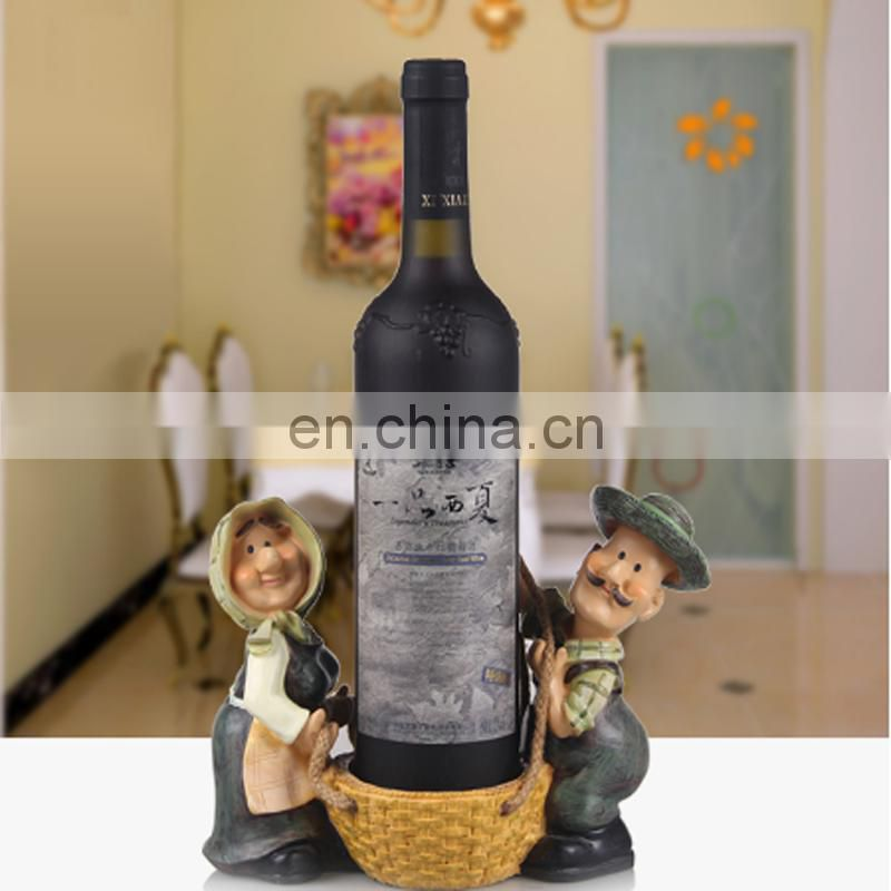 Hot Selling Lovely Elder Couple Wine Holder, Happiness Wine Rack