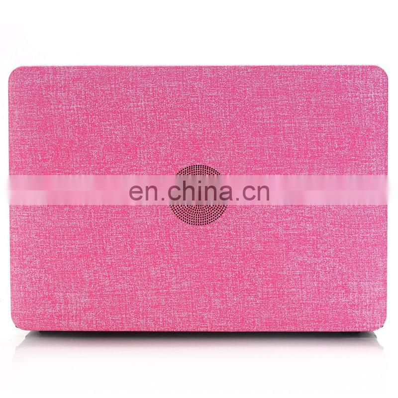 Cloth Texture Hard PC Case for New Macbook 12 inch Rose Red
