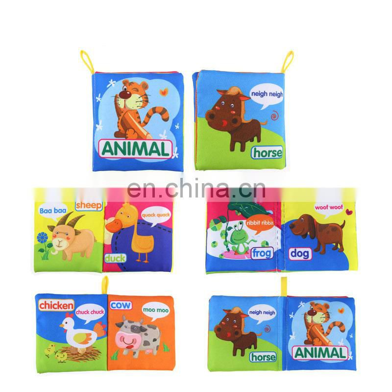 2017 Colorful Pattern Cloth Book Toys for Toddler Cloth Book, Educational Fabric Baby Soft Cloth Book
