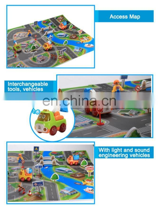 Hot selling Friction Truck toys with music and light for kids