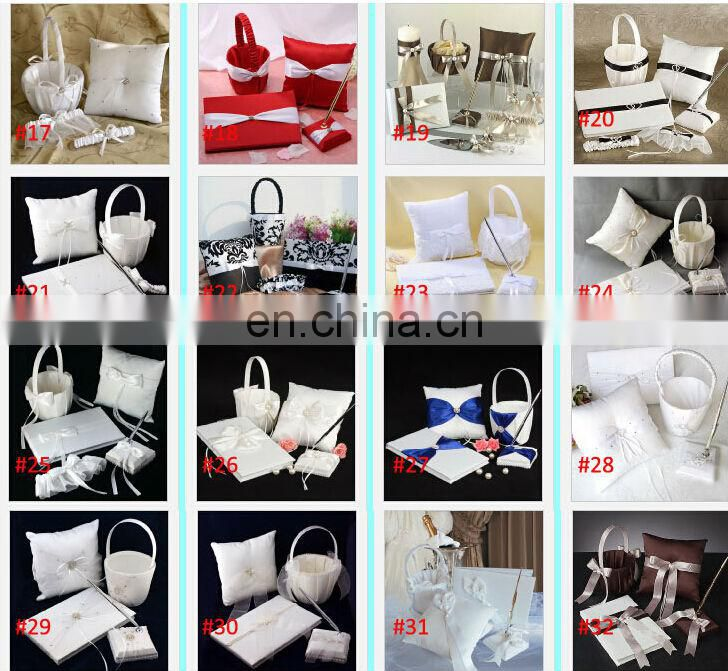 Lace & Linen Fabric Wedding Guest Book and Pen Set Wedding Party Ceremony Accessories Wedding Decoration Supplies