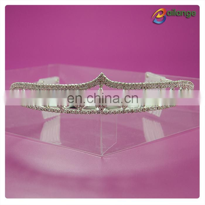 Wholesale Bridal Wedding Crystal Rhinestone Heart Crown Pageant Silver Plated Women Children tiaras