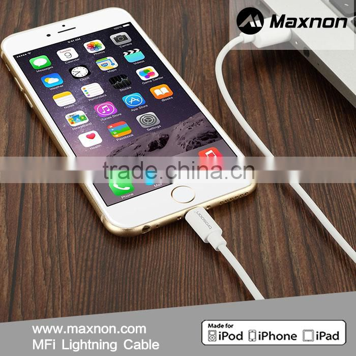 Manufactures wholesale for apple mfi certified usb cable for iphone 6 flat noodle charger cable support ios9
