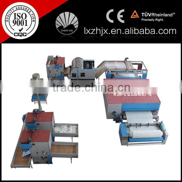 Nonwoven Glue Free Wadding production Line , non glue felt making machine