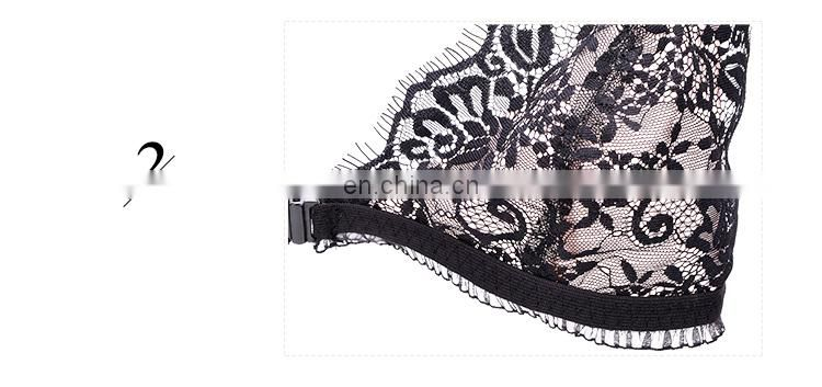Front Closure Wholesale Girls Sexy Lace Bralette Bra
