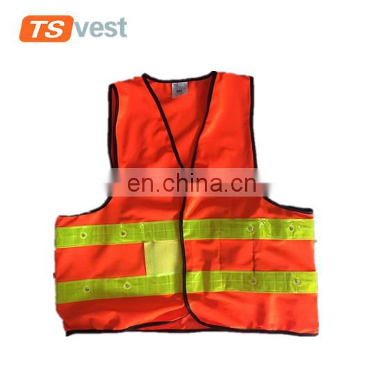 100% polyester 120gsm LED light security jacket for emergency