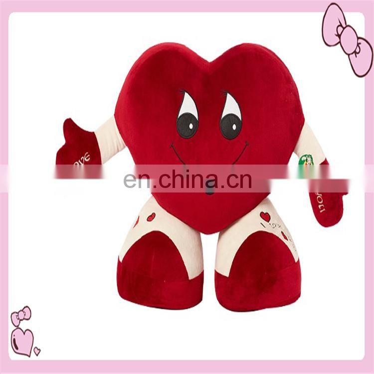 lovely stuffed plush heart toys with hands