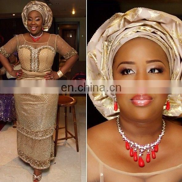 2015 african beads jewerly set for nigeria wedding party