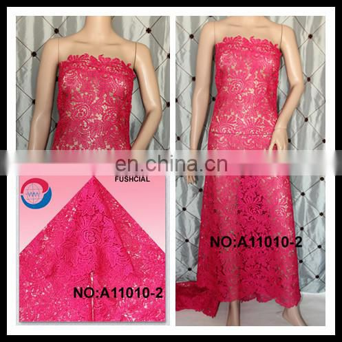 High quality african guipure embroidery lace / guipure dress
