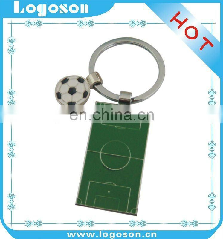 Custom logo sport design metal football key chain