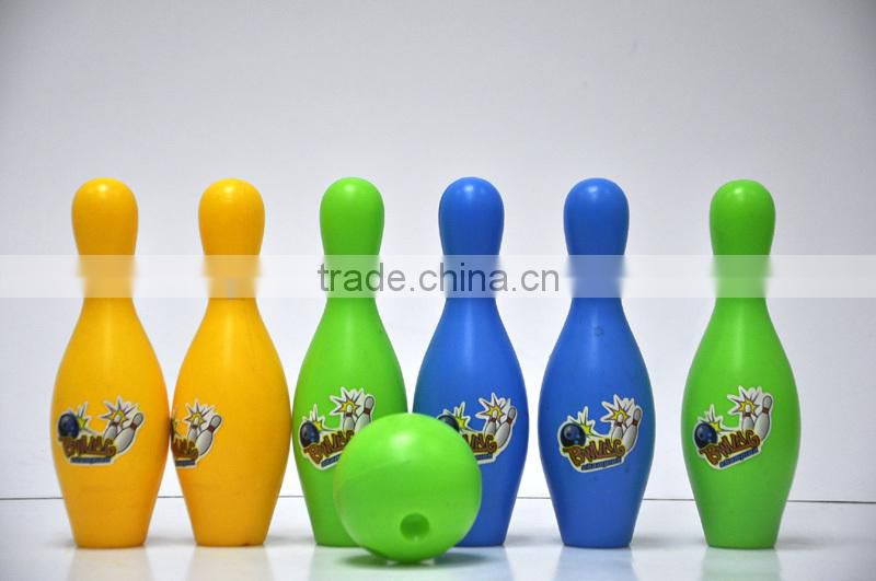 (6 Bowling 1 Ball) Colorful Plastic Child Bowling Set Outdoor Indoor Party Game Props Kid Children Funny Toys Gift