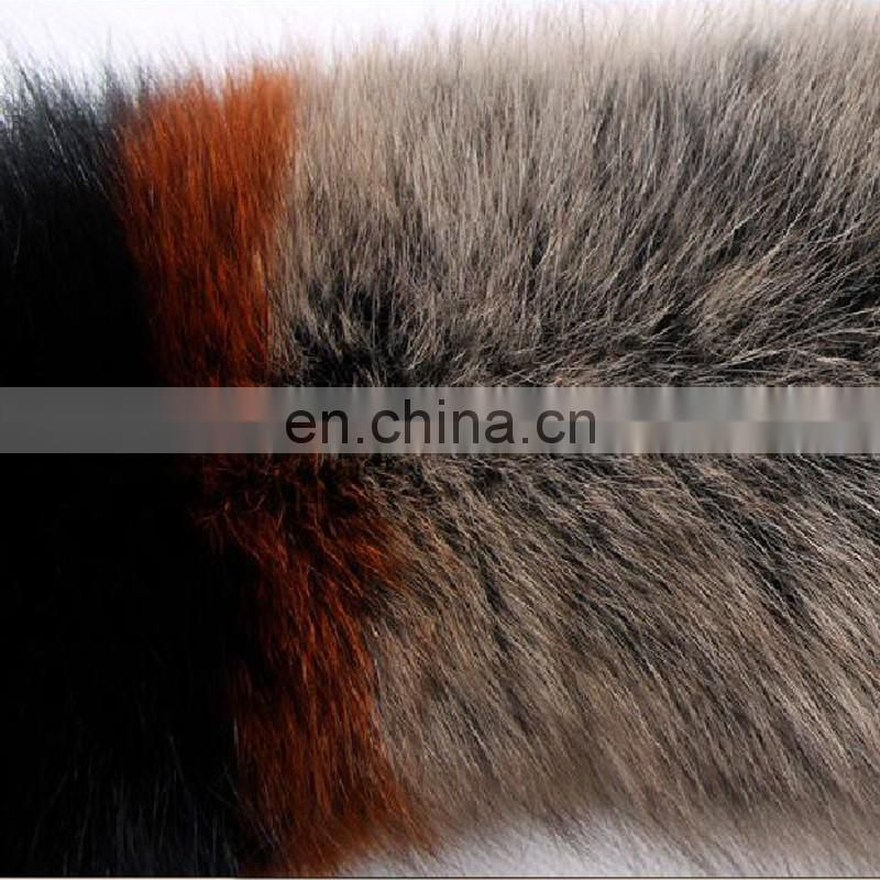 Genuine blue fox fur winter fashion real fox fur shawl collar handmade