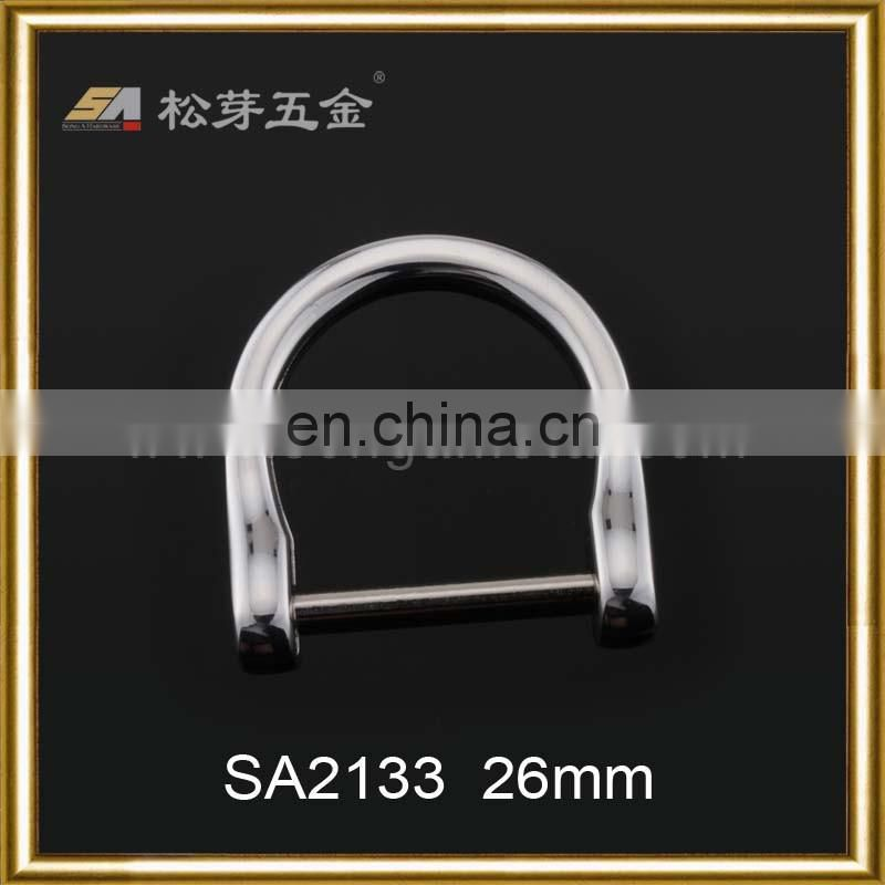 Custom metal accessories openable D ring, detachable D ring, screw ring