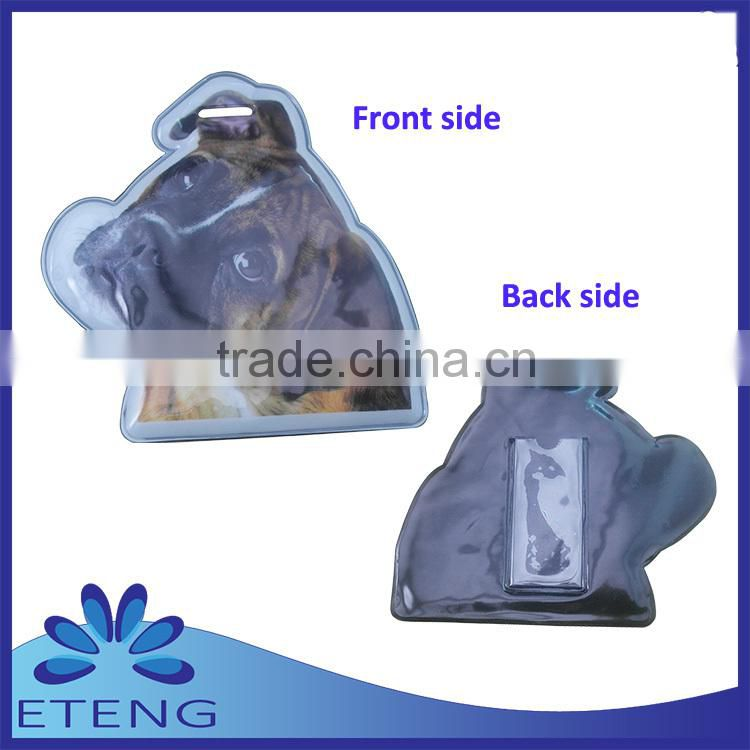 Promotion HOT Selling custom full colors printed soft pvc luggage tag with id card badge