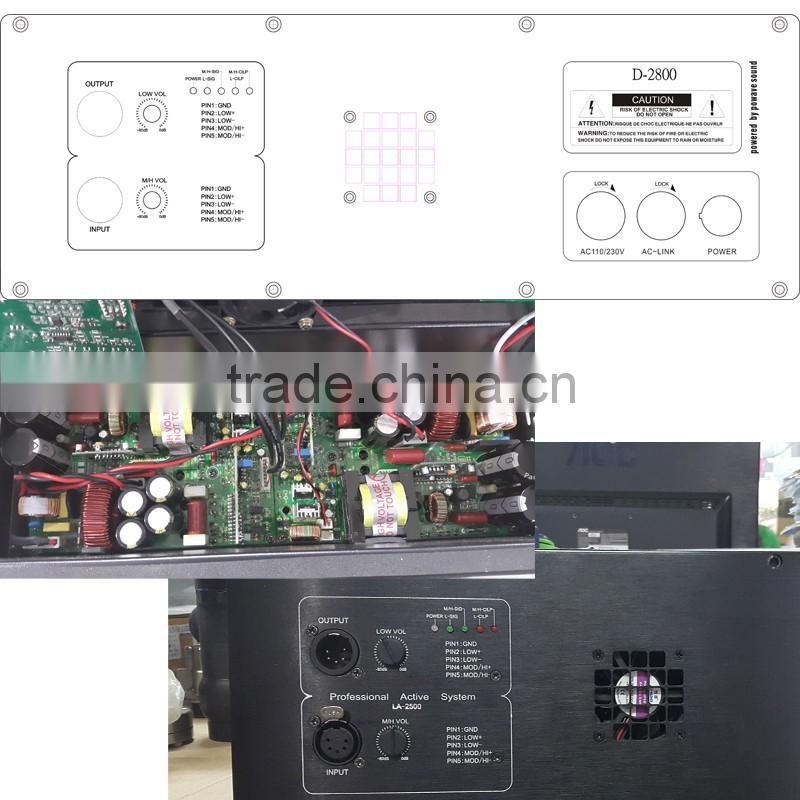 D-2800 powavesound active speaker power amplifier 800W +
