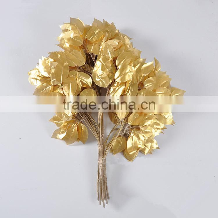 environmental friendly artificial leaves for decoration artificial ficus leaves