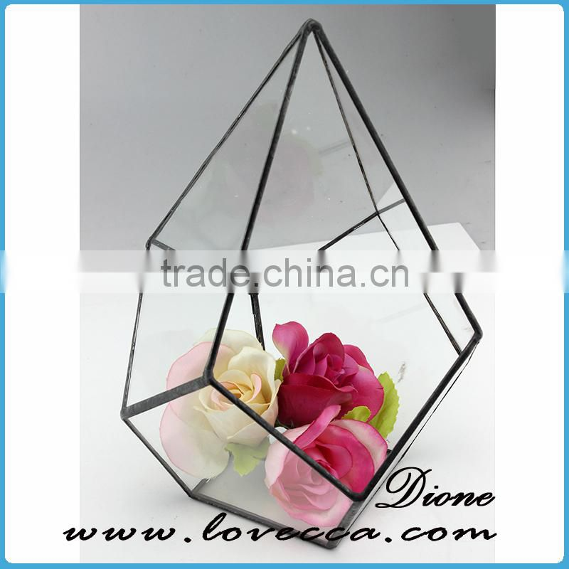 Wholesale Price Decorative Terrarium Glass. Geometric Glass Terrarium Wholesale